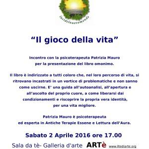 """Presentazione libro """"Il gioco della Vita"""" e incontro con Patrizia Mauro"""