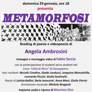 Metamorfosi 29 Gen ore 18 Lettura di Poesie